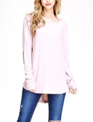 Women's Staccato Suede Elbow Patch Tunic Sweater