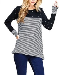 Women's Staccato Striped Polka Dot Sweater