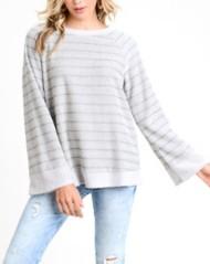 Women's Doe & Rae Two Tone Knit Sweater  Contract Rib
