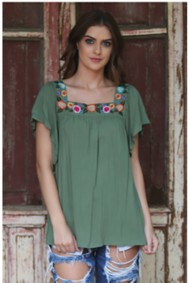 Women's Angie Embroidred Top