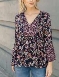 Women's Mystree Floral Printed Blouse