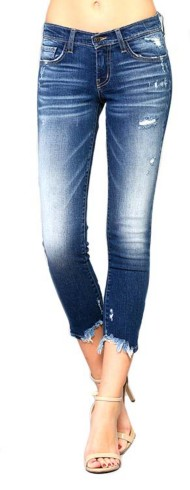Women's Flying Monkey Destroyed Hem Skinny Jean