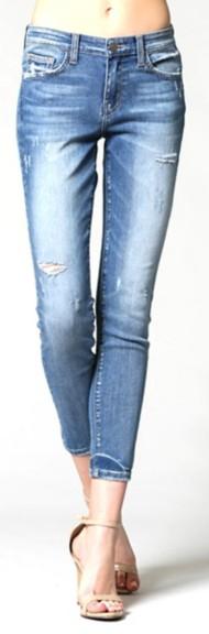 Women's Flying Monkey Distressed Ankle Skinny Jean