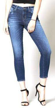 Women's Flying Monkey Whiskered Crop Skinny Jean