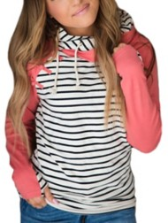 Women's Ampersand Ave Knotted Double Hooded Sweatshirt