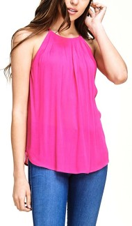 Women's Staccato Solid Halter Tank