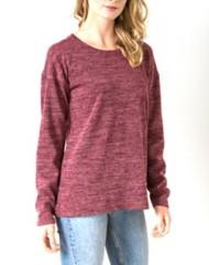 Women's Hem & Thread Tie Back Sweater