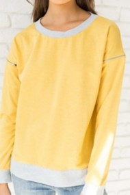 Women's Hem & Thread Zipper Detail Sweatshirt