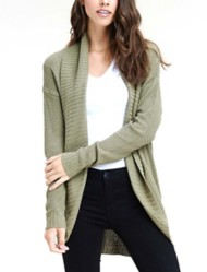 Women's Staccato Textured Cocoon Cardigan