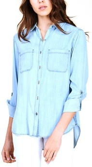 Women's Staccato Chambray Long Sleeve Shirt