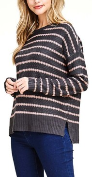 Women's Staccato Striped Boat Neck Sweater