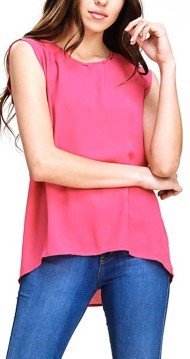 Women's Staccato Keyhole Button Back Tank