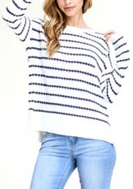 Women's Staccato Striped Boat Neck Sweater