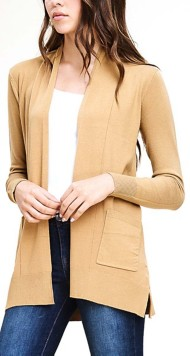 Women's Staccato Side Slit Cardigan