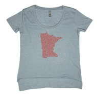 Women's Home State Apparel Leaf State Short Sleeve Shirt