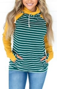 Women's Ampersand Ave School Spirit Double Hooded Sweatshirt