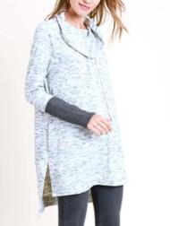 Women's Doe & Rae Cown Neck Tunic Sweatshirt