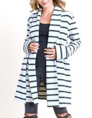 Women's Doe & Rae Brushed Striped Jacket