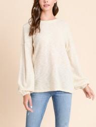 Women's Doe & Rae Keyhole Tie Back Sweater