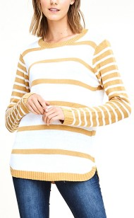 Women's Staccato Striped Pullover Sweater