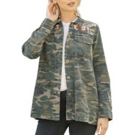 Women's Mystree Embroidered Camo Jacket