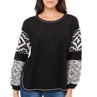 Women's Mystree Jacquard Terry Sweater