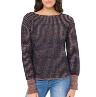 Women's Mystree Ribbed Multi Threaded Sweater