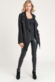 Women's Doe & Rae Knit Long Moto Jacket