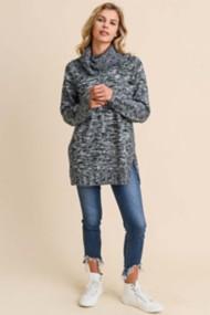 Women's Doe & Rae Marled Cowl Sweater