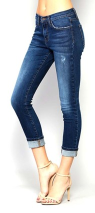 Women's Flying Monkey Slim Straight Cuffed Jean