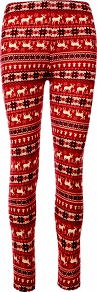 Women's New Mix Holiday Reindeer Legging