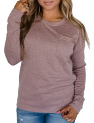 Women's Ampersand Ave Lace Trim Long Sleeve Shirt