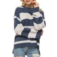 Women's Hem & Thread Jewel Toned Striped Sweater