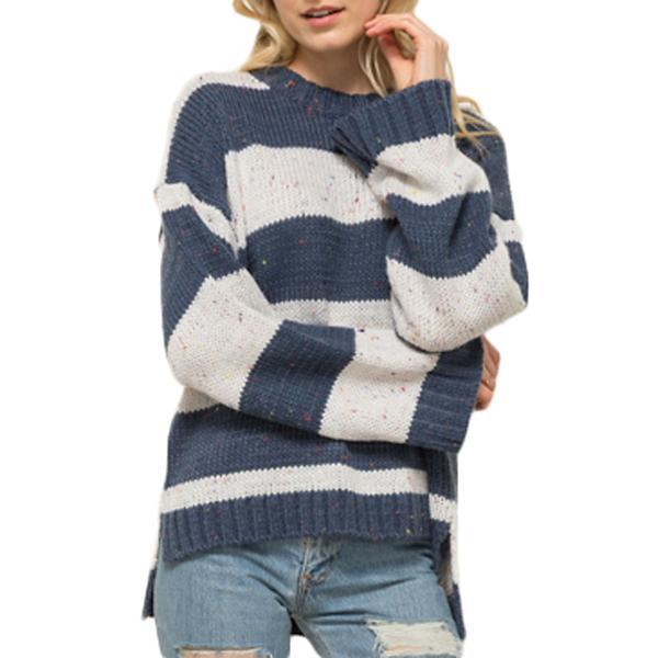 2ed05e72187e Women's Hem & Thread Jewel Toned Striped Sweater | SCHEELS.com