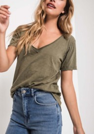 Women's Z Supply Cotton Slub V-Neck T-Shirt