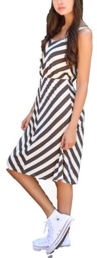 Women's Angie Chevron Stripe Dress
