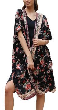 Women's Angie Floral Aztec Kimono Wrap