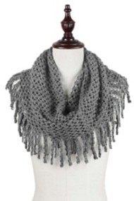 Women's Elegant Essence Mini Tube Fringe Scarf