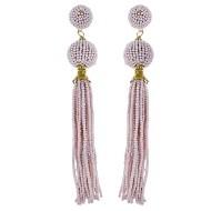 Women's Pannee Beaded Tassel Pink Earrings