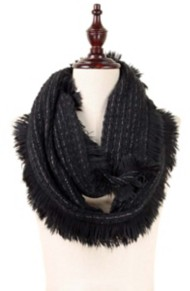 Women's Elegant Essence Soft Knit Lurex Infinity Scarf