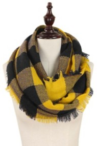 Women's Elegant Essence Buffalo Plaid Infinity Scarf