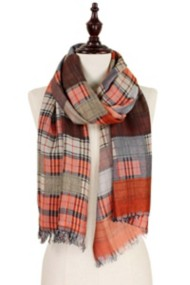 Women's Elegant Essence Double-Sided Plaid Scarf