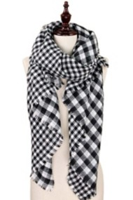 Women's Elegant Essence Double-Sided Buffalo Plaid Scarf