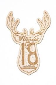 Park Bench Apparel IL Buck Wood Sticker