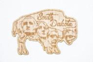 Park Bench Apparel SD Buffalo Wood Sticker