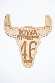 Park Bench Apparel IA Bull Wood Sticker