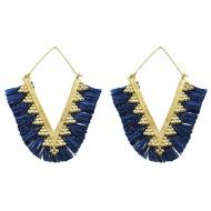 Women's Pannee Tassel Navy Earrings