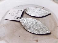 Women's Cecelia Metallic Champagne Leather Earring