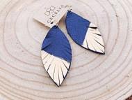 Women's Cecelia Gold Painted Leather Earrings