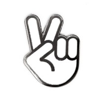 These Are Things Peace Hand Pin
